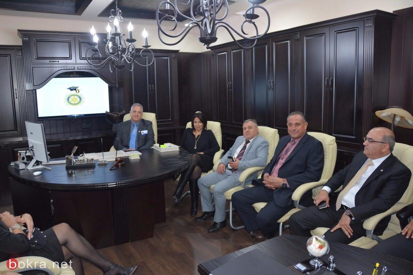 حفل تبادل الرؤساء في نادي الروتاري في كفرياسيف