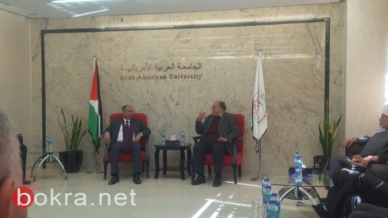 رئيس واداره الجامعه العربيه الامريكيه في جنين يستقبل الوفد النصراوي بحفاوه