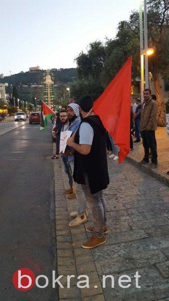 حيفا: العشرات يتظاهرون تضامنًا مع الأسرى بإضرابهم عن الطعام