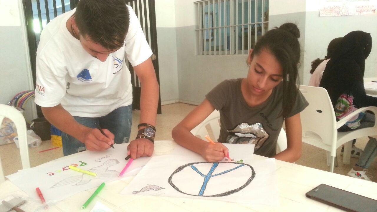 منظمة السلام الدولية ومجموعة من الشباب في الشرق الاوسط ينظمان مشروع قطعة السلام