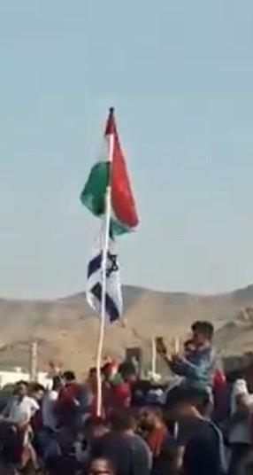 رفع العلم الإسرائيلي في شوارع كردستان العراق