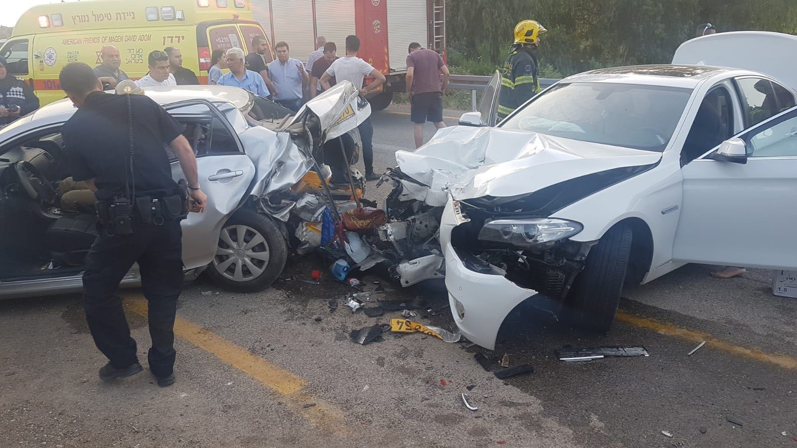 كفر مصر: حادث طرق و3 اصابات متوسطة