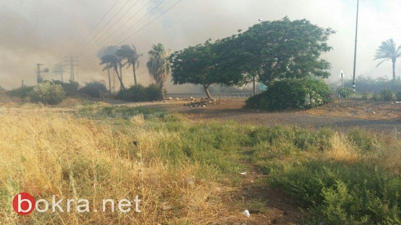 حريقان قرب طبريا .. بجانب وادي الحمام وفي بارك هيردين!
