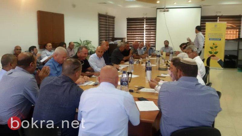 مسؤولون من الحكومة يجتمعون في الشبلي أم الغنم لتقييم العمل بخطة تطوير البلدات البدوية 1480