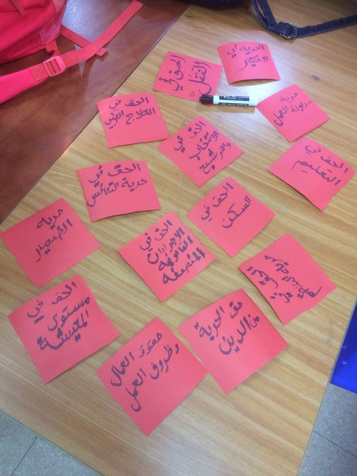 نجاح باهر ليوم حقوق الانسان والمواطن بمدرسة أورط على أسم حلمي الشافعي عكا