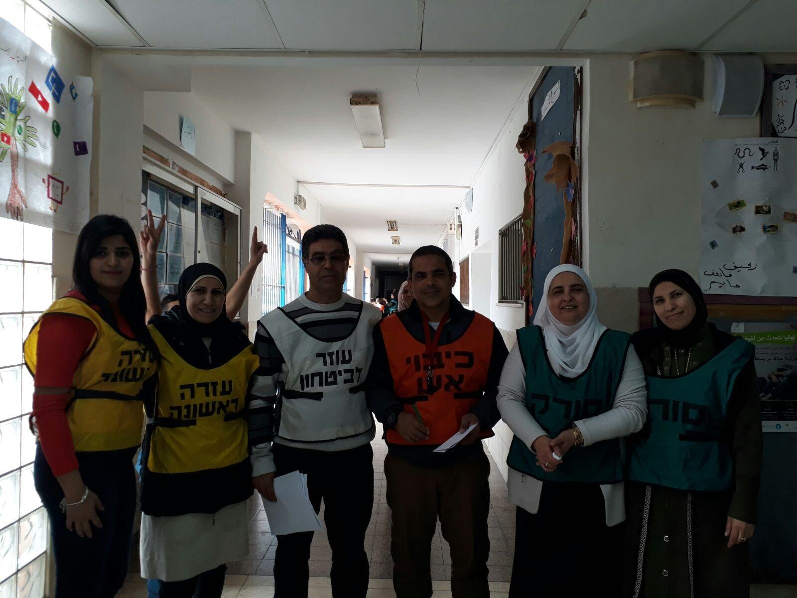 مدرسة كفر مصر الابتدائية تنظم تدريبًا يحاكي وقوع حرب وسقوط صواريخ