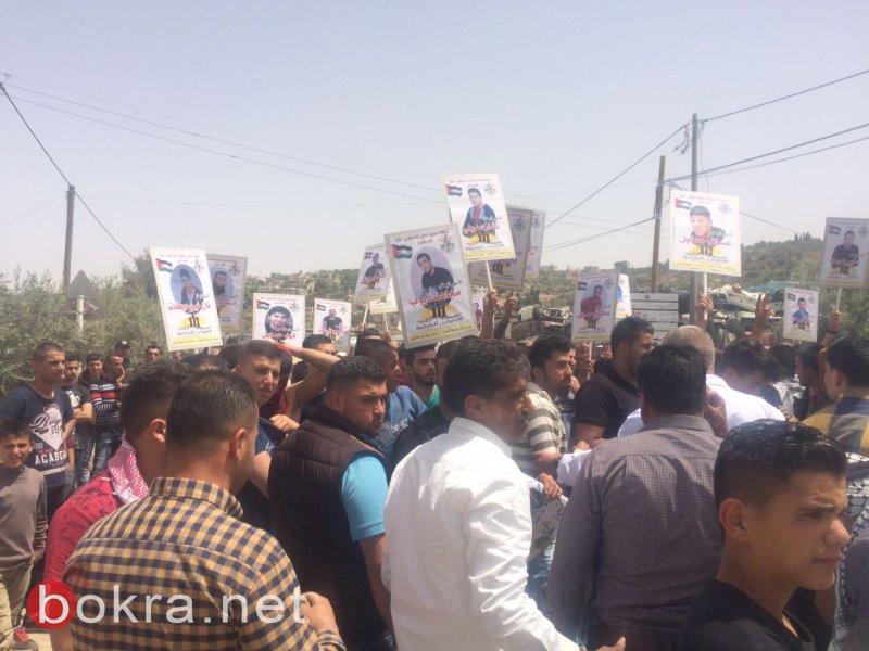 إصابات بالاختناق واعتقال شابين إثر قمع الاحتلال لمسيرة تضامنية مع الأسرى جنوب نابلس