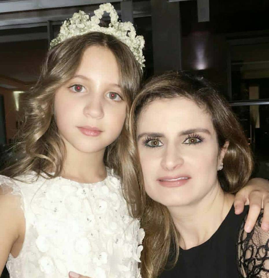 شاهد كيف احتفلت نانسي عجرم بميلاد ابنتها الكبرى ميلا!!