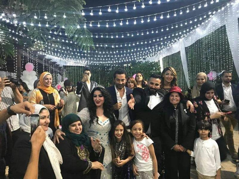 عقد قران أحمد سعد وسمية الخشاب بحضور الفنانين