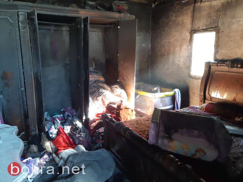 كارثة في حورة .. حريق في منزل بسبب مدفأة وإصابة 3 طفلات وأمهن!