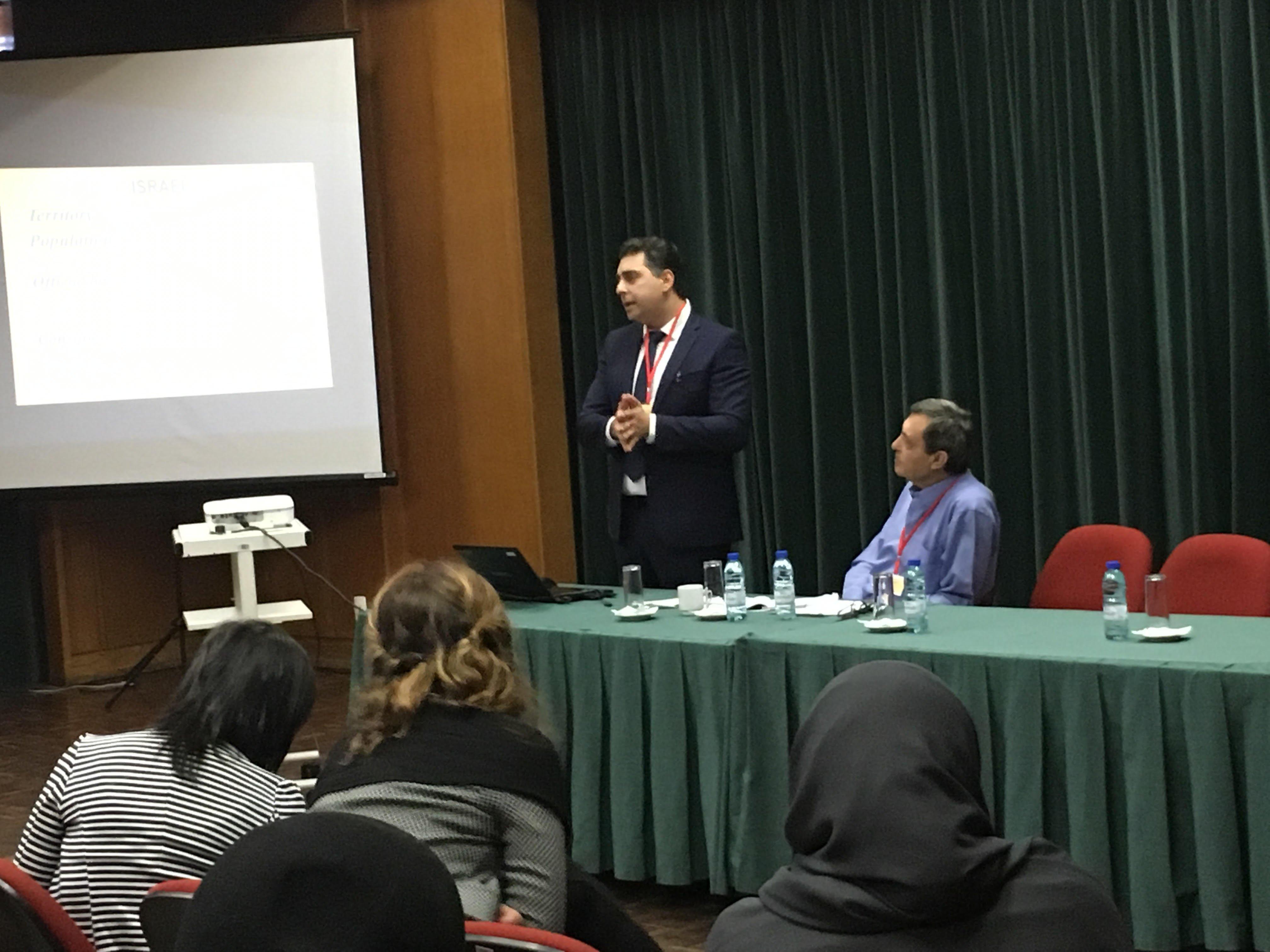 محاضرة للمحامي قيس ناصر في المؤتمر الدولي للتخطيط في البرتغال