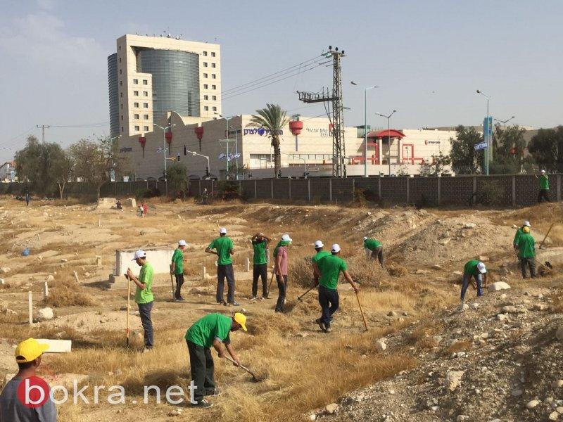 الحركة الإسلامية النقب: ترميم مقبرة بئر السبع الإسلامية ووقفة مع أسري الحرية تعزيز لرباطنا