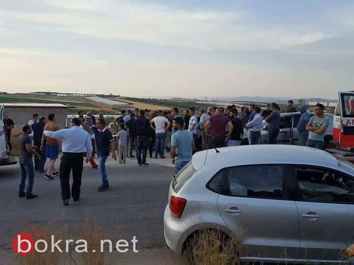 إصابة طالبة من الداخل بحادث طرق مروع قرب الجامعة الأمريكية بجنين