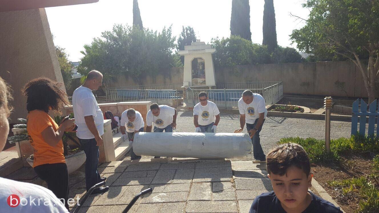الليونز الناصرة :يقيم يوم نظافة ليونزي في بيت المسن الناصرة