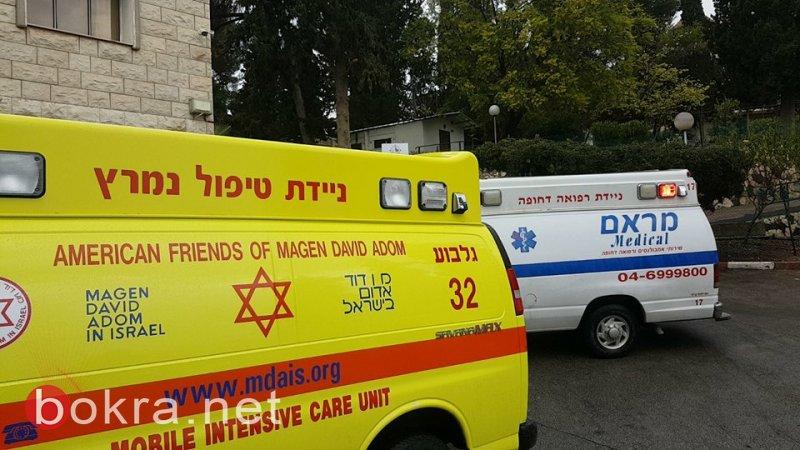 16 مصابًا، معظمهم طلاب مدرسة بحادث اصطدام حافلة بجدار في الناصرة