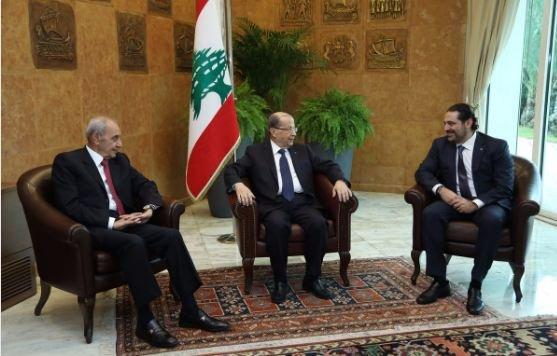 الحريري يعلّق استقالته في خطاب بالقصر الرئاسي اللبناني