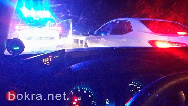 الشرطة حررت 34 الف مخالفة سير هذا العام، بينها لشاب من كفر برا قاد بسرعة 229!