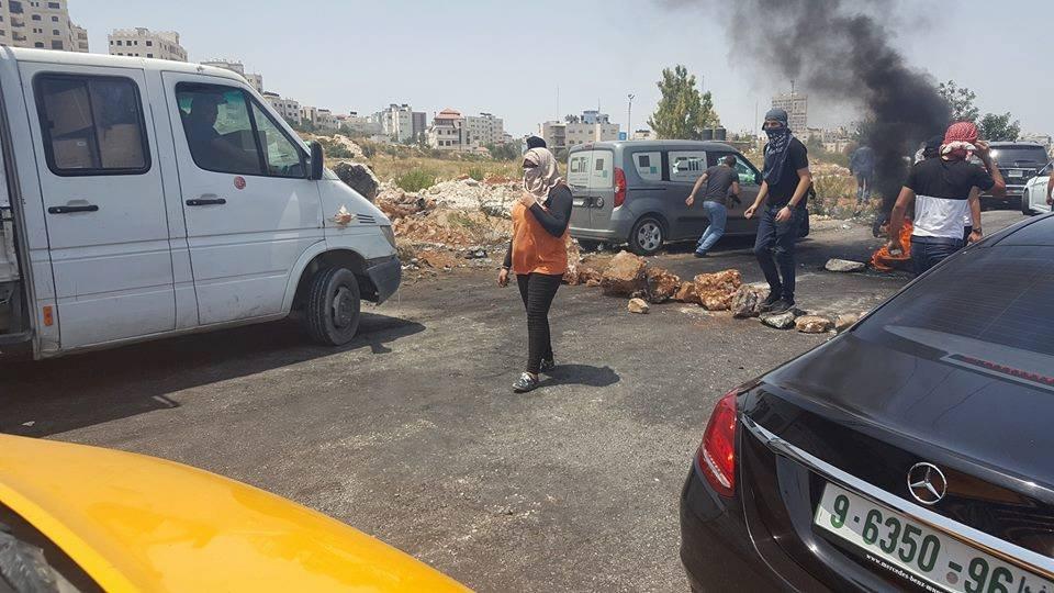 4 إصابات برصاص الاحتلال في مواجهات شمال البيرة