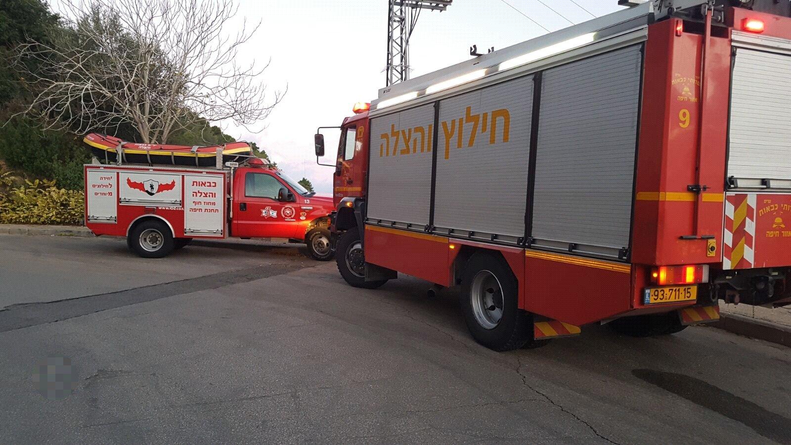 تخليص مواطن سقط من مكان مرتفع في حيفا