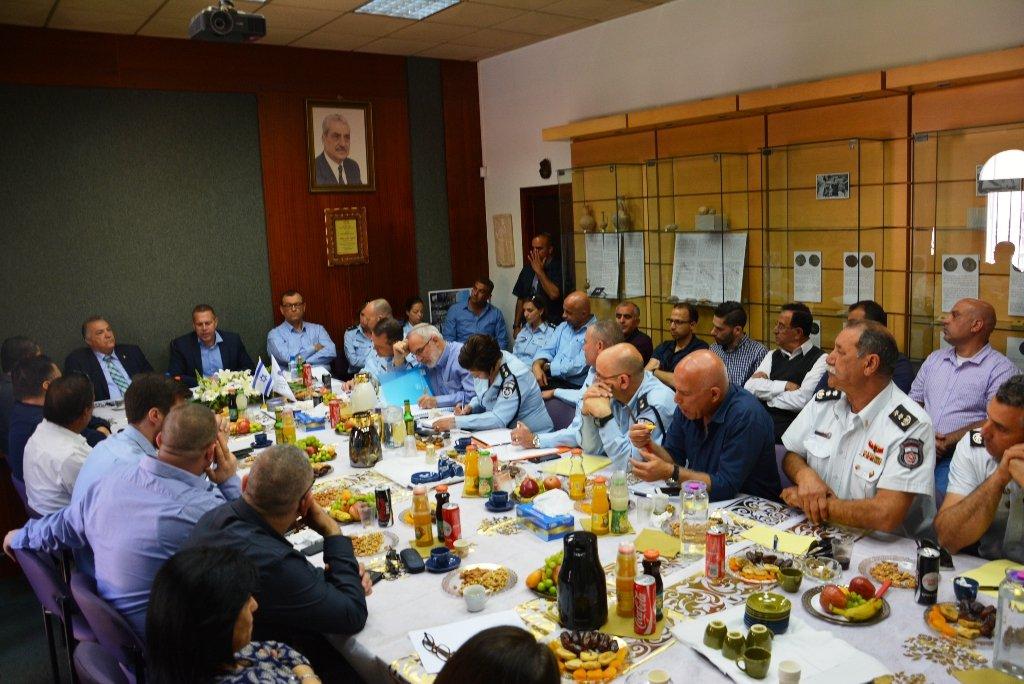 وزير الامن الداخلي جلعاد اردان يزور بلدية الناصرة