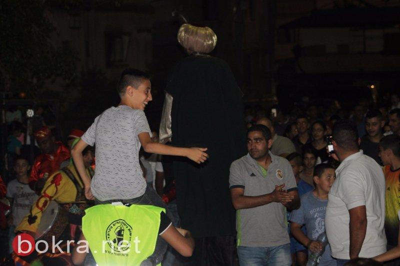 بالصور: مسيرة بهيجة في كفر مصر بمناسبة عيد الفطر السعيد