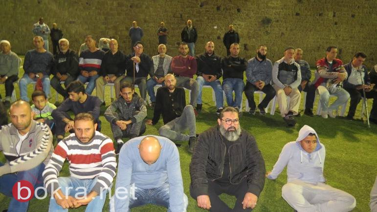جموع المصلين يؤدون صلاة الاستسقاء في عكا