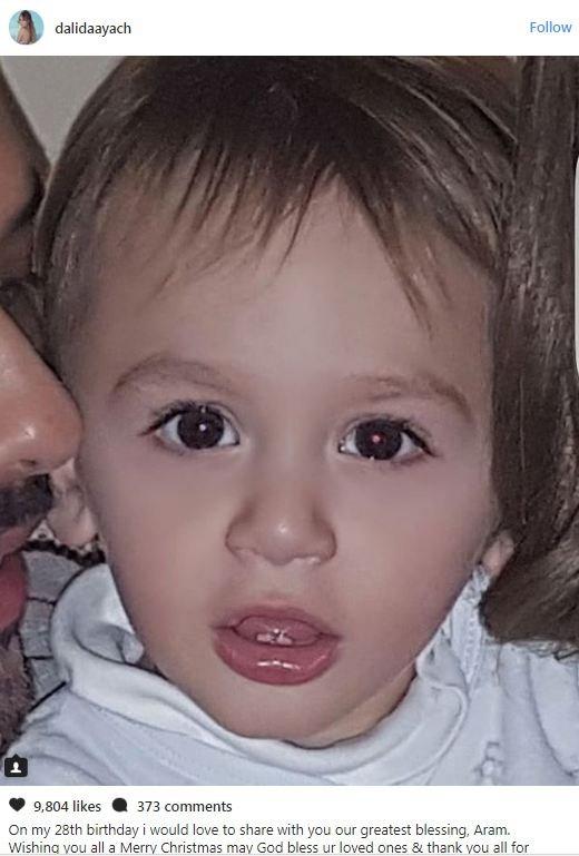 للمرة الأولى شاهدوا وجه إبن رامي عياش