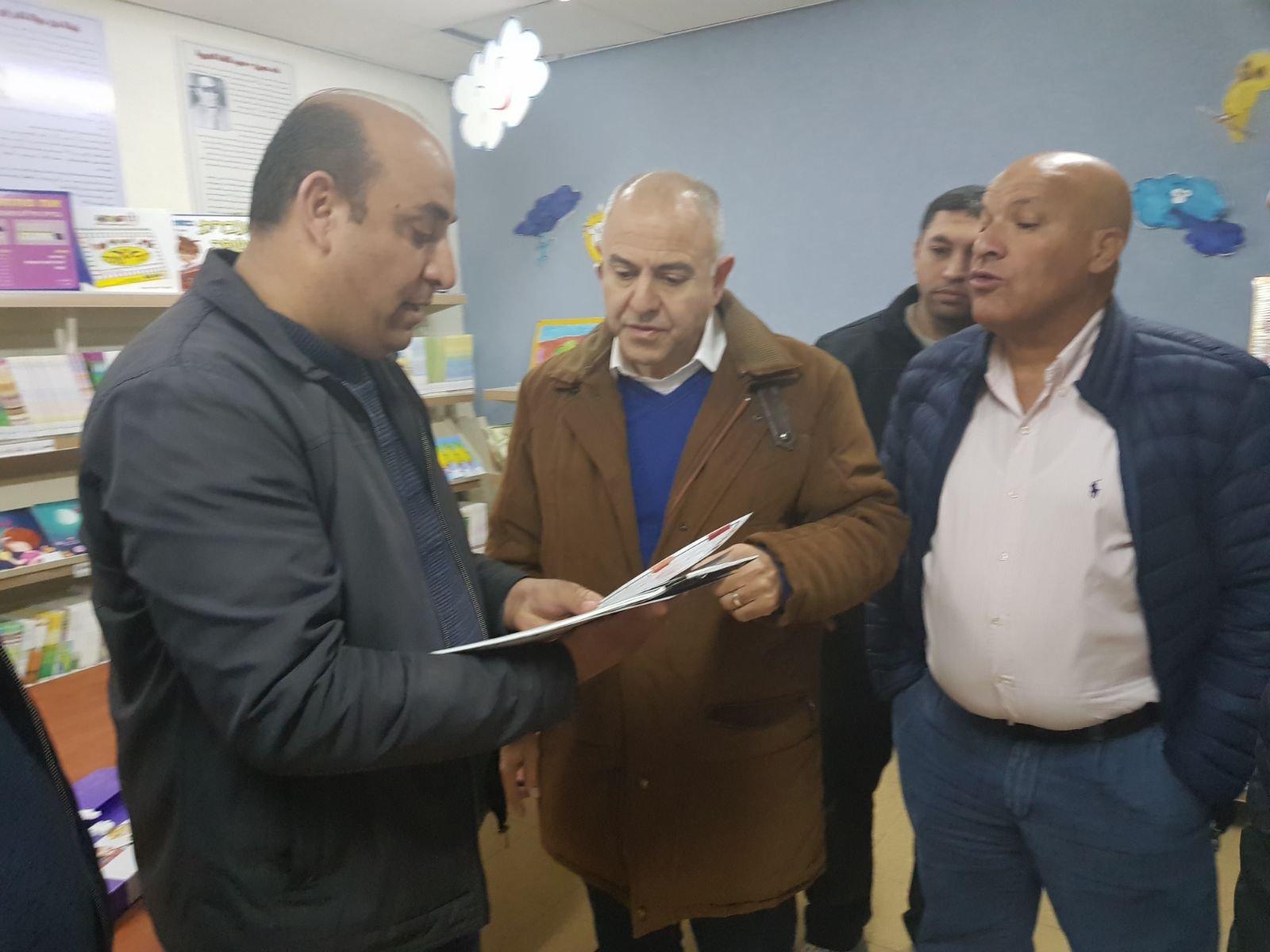 جولة المدير العام للوزارة شموئيل ابواب في مؤسّسات التّعليم في البلدات البدوية في الجنوب
