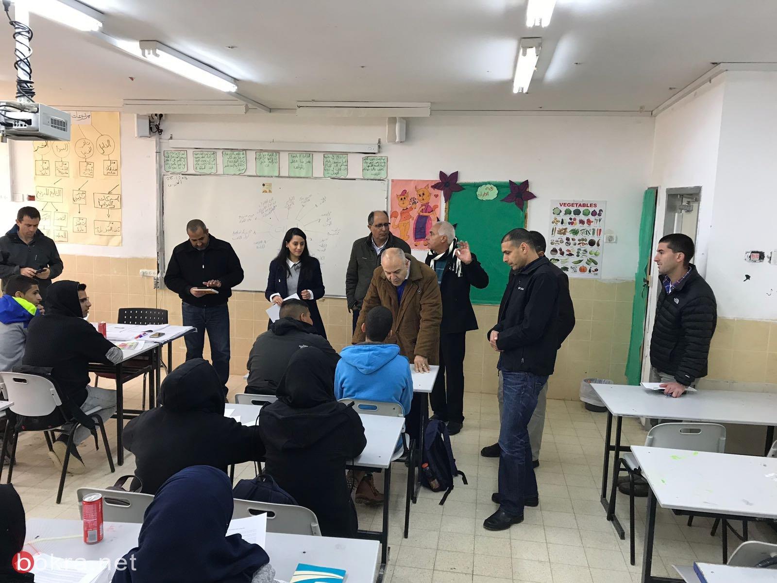 جولة لمدير عام وزارة التربية شموئيل ابواب في مؤسّسات التّعليم في المجتمع البدوي في الجنوب .