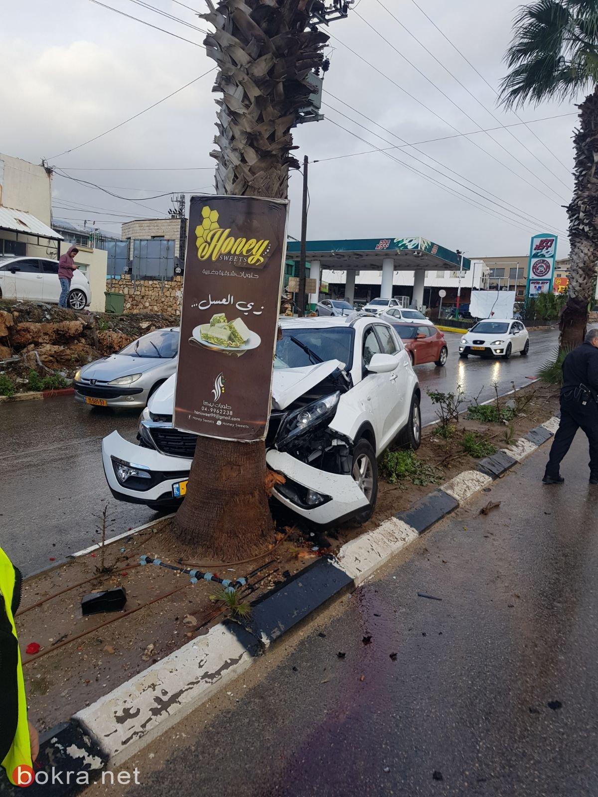 اصابة متوسطة في حادث طرق بالقرب من يركا