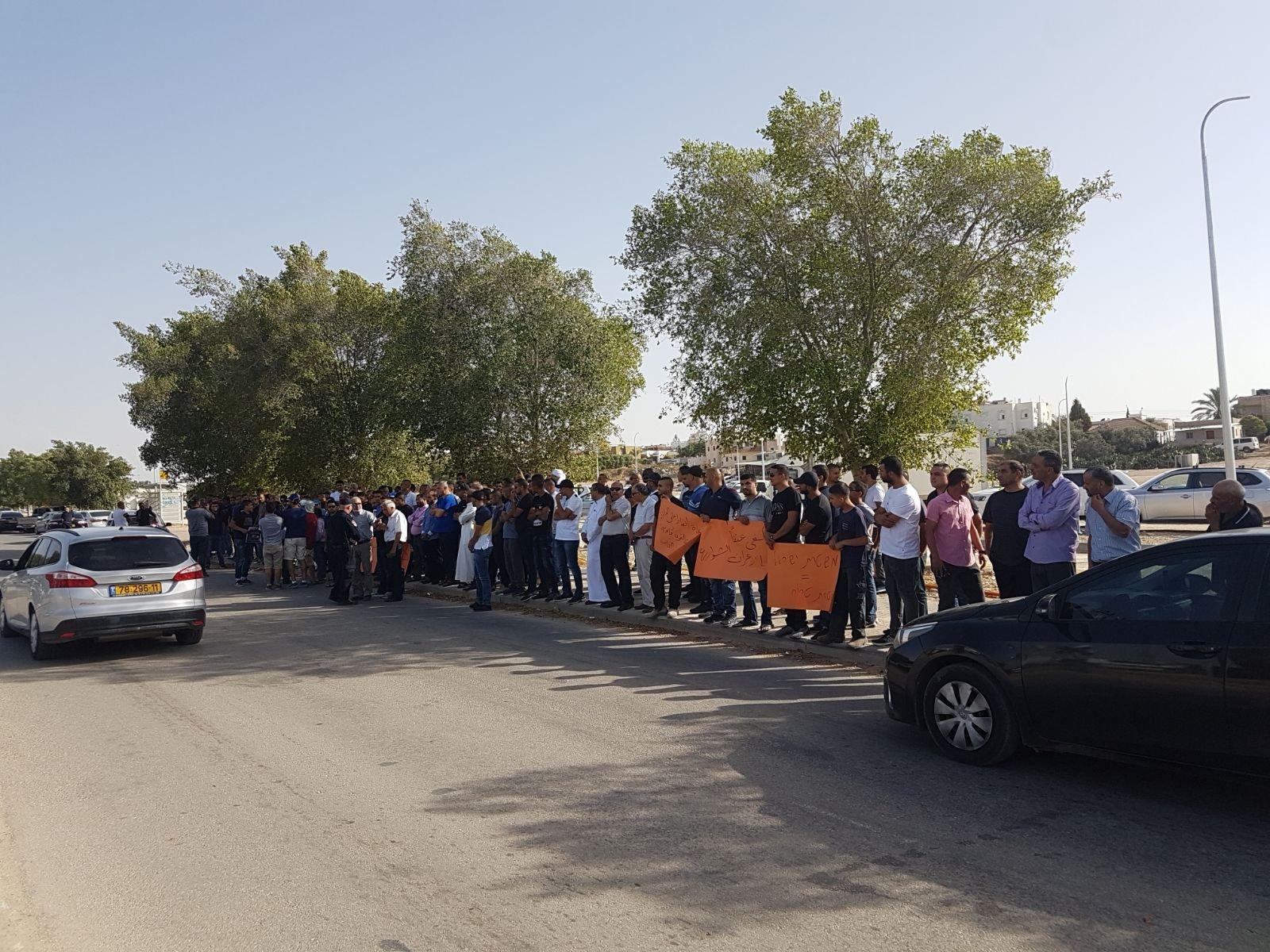رهط: مظاهرة منددة بعنف الشرطة تجاه المواطنين العرب
