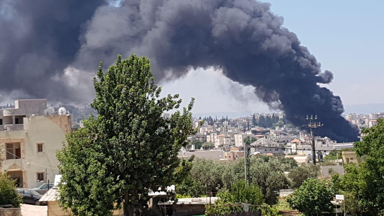 شفاعمرو: اندلاع حريق في مصنع للبلاستيك