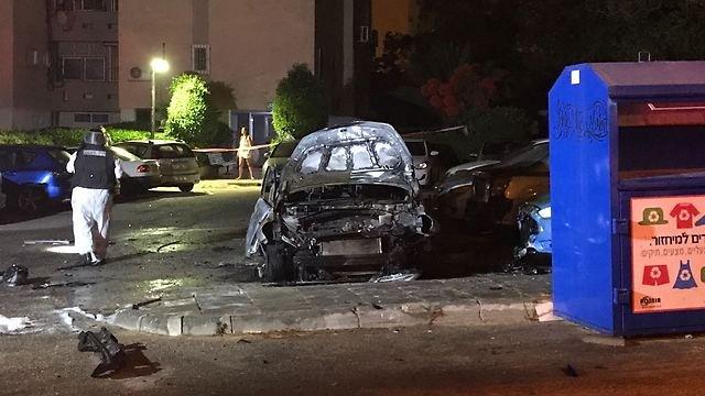 أشكلون (عسقلان): انفجار داخل سيارة وجثة شخص داخله