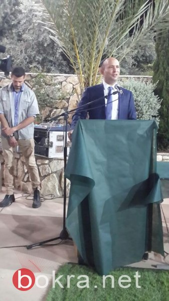 وزير التعليم نفتالي بينت يحل ضيفا على دير الأسد مهنئا بعيد الفطر السعيد