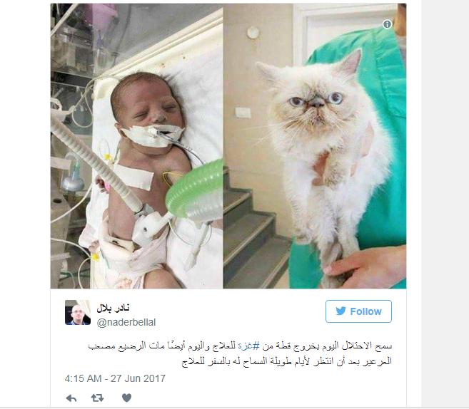 وفاة رضيعين من غزة بسبب منع السُلطة وإسرائيل إخراجهما للعلاج