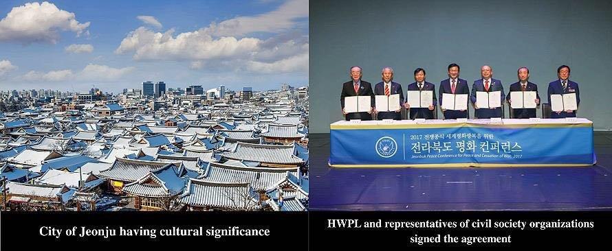 المجتمع المحلي والمنظمات غير الحكومية الدولية حل على الحكم من أجل السلام في كوريا و غلوب جيونجو