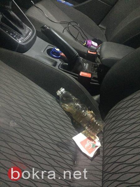 بالصور: ضبط سائق من يافة الناصرة وهو يدخن الـبانغ