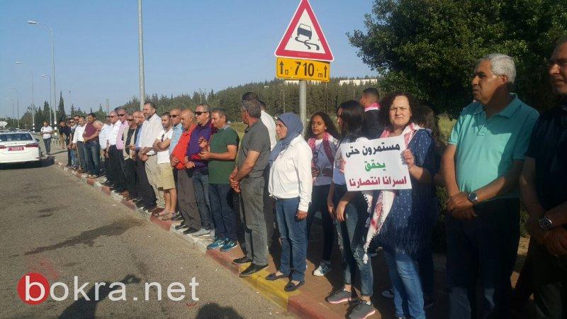 اللجان الشعبية في البلدات العربية المختلفة تتضامن مع الاسرى
