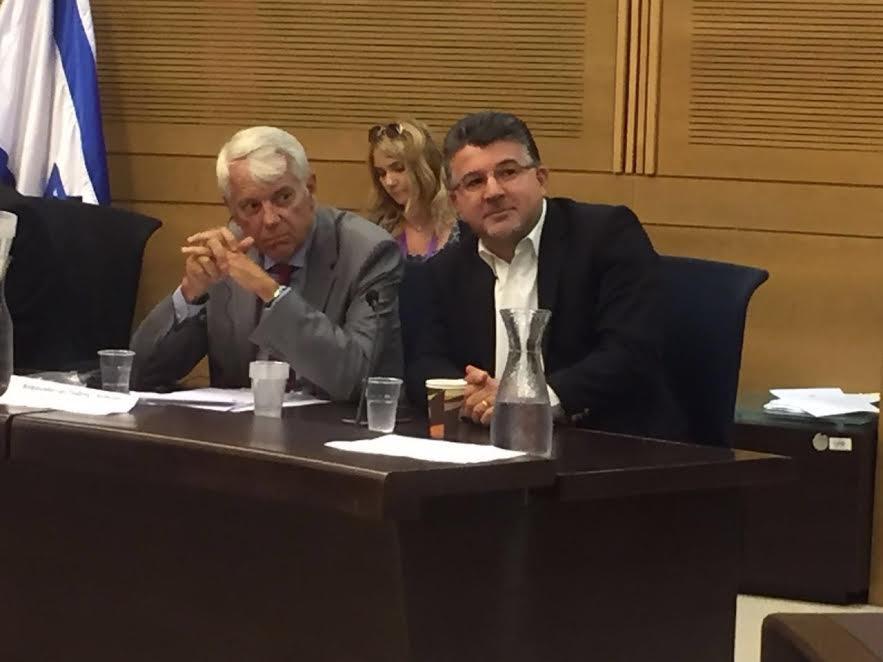 سفير الاتحاد الاوروبي للنائب جبارين: نتابع بقلق قانون الدولة القومية