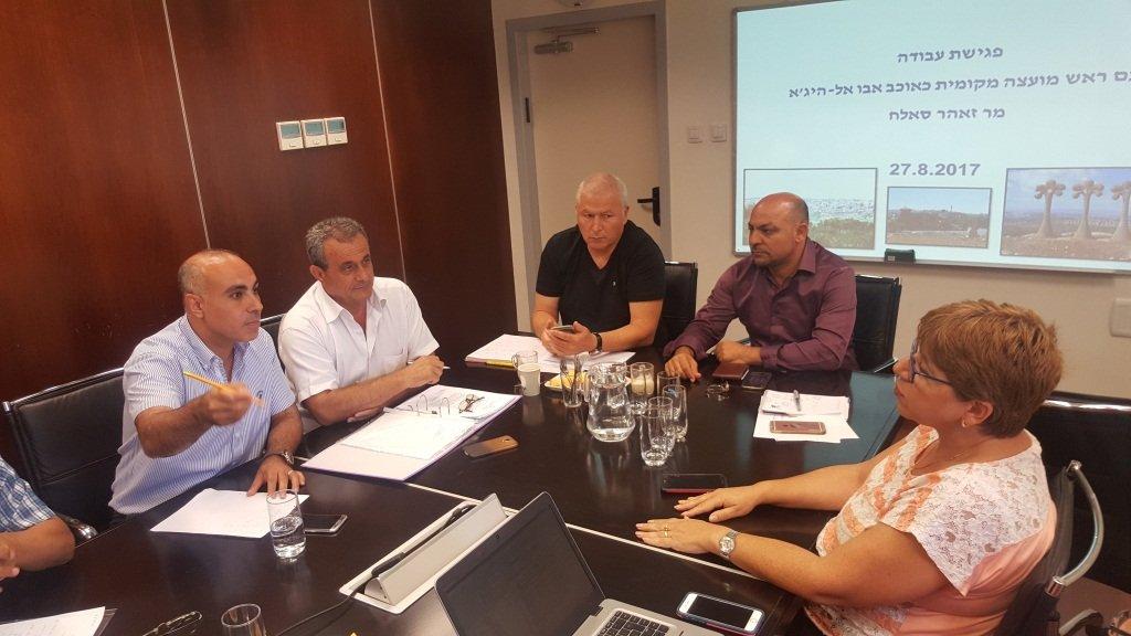 بمبادرة النائب مسعود غنايم ومجلس كوكب المحلي جلسة عمل في وزارة الإسكان حول قسائم البناء في القرية