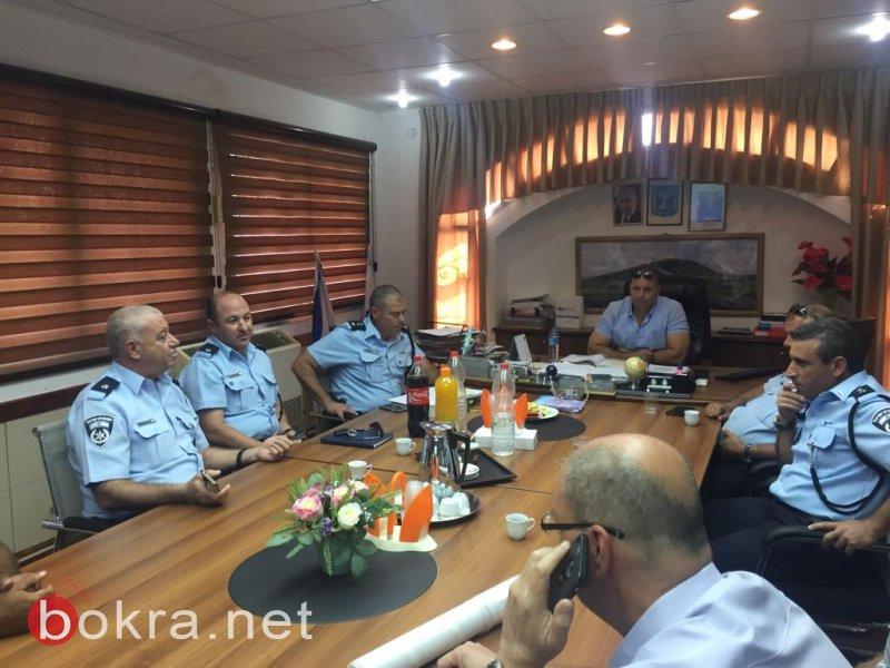 إدارة مجلس الشبلي أم الغنم تستقبل قادة شرطة العفولة وبيسان الجدد لتعزيز العمل المشترك