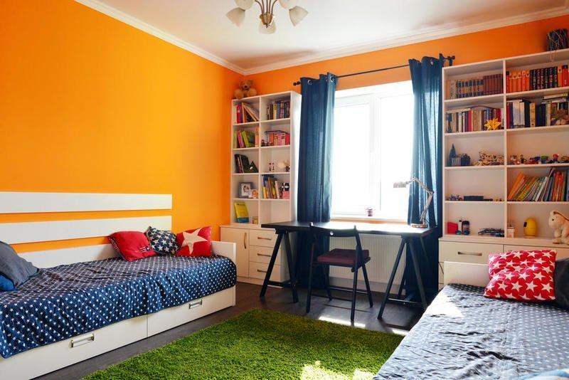 ديكورات غرف نوم لأطفال متفاوتي الأعمار