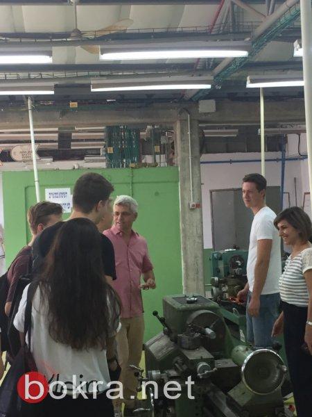 وفد ألماني يزور ثانويّة العلوم والتّثقيف الزّراعيّ الرامة