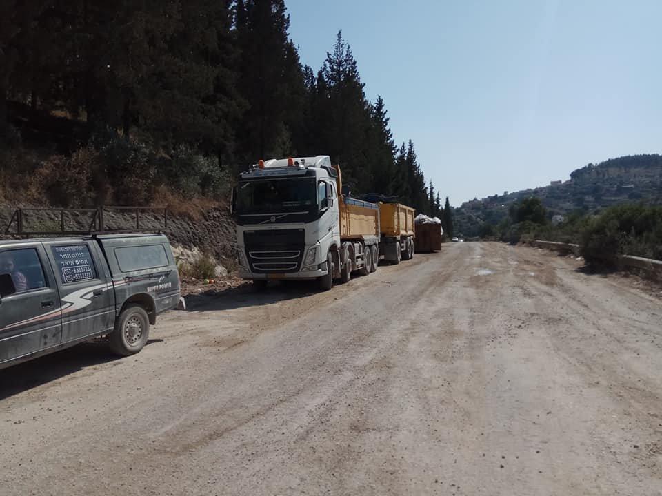 بلدية ام الفحم: الانتهاء من تحضير وتجهيز المحطة الانتقالية للنفايات الصلبة في عين الزيتونة