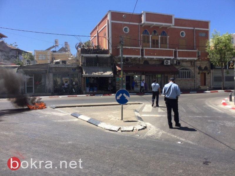يافا: مواجهات عنيفة وإشعال إطارات على خلفية مقتل السعدي