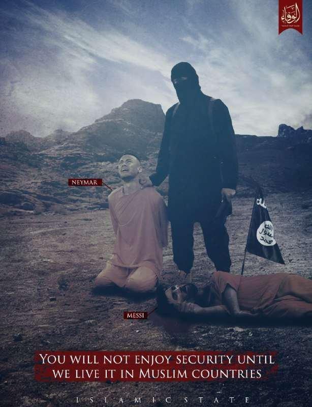 تنظيم داعش يهدد نجم باريس سان جيرمان