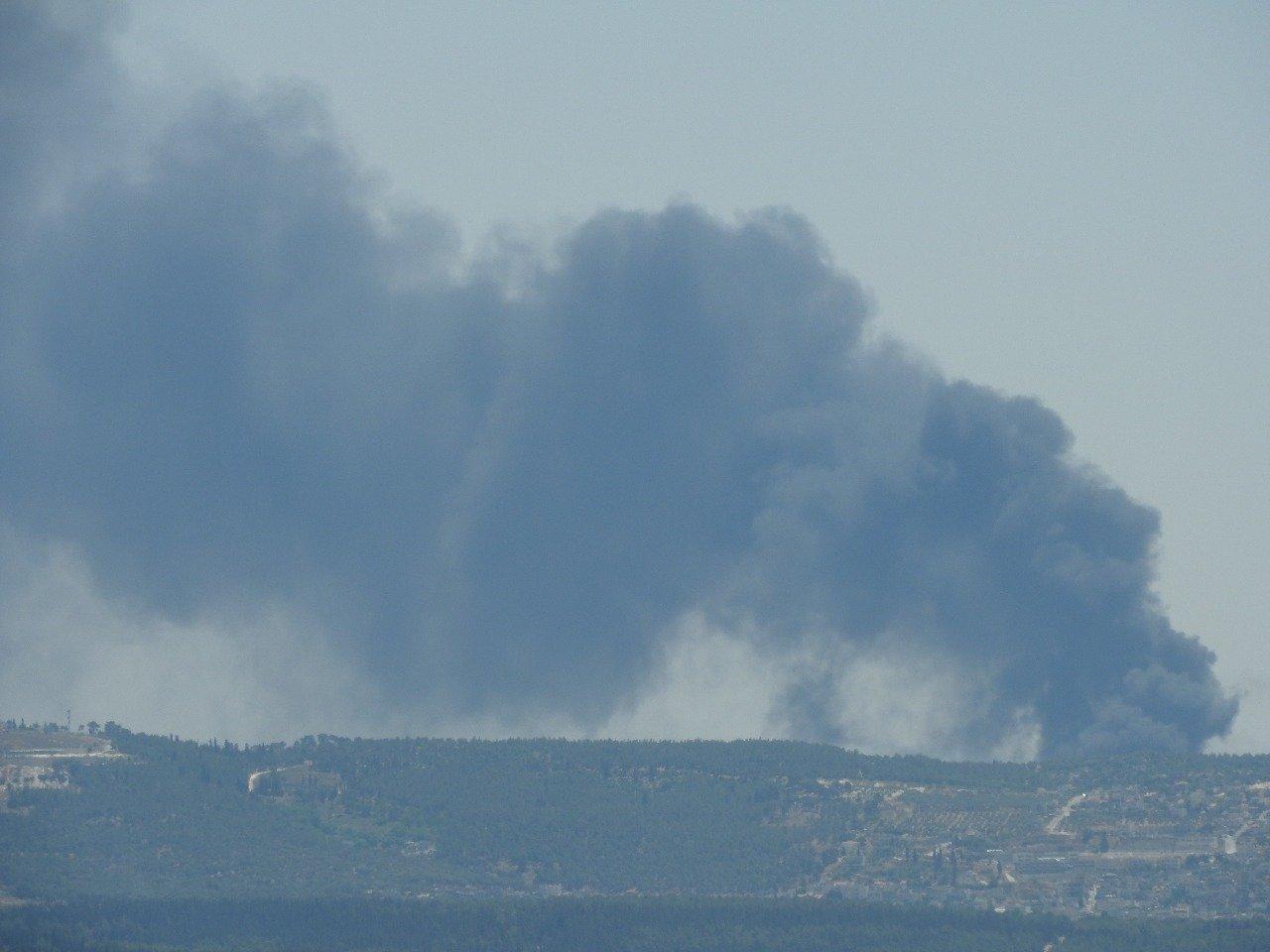 حرق اطارات، سبب الحريق الهائل بين يافة الناصرة والمجيدل