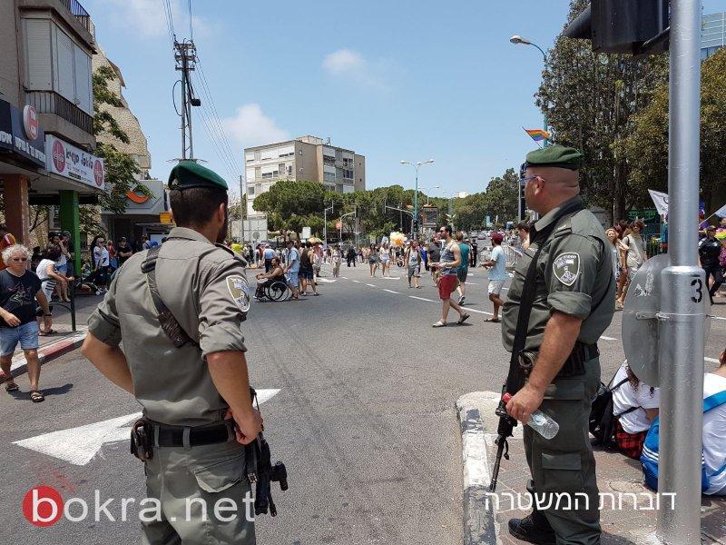 حيفا: قوات معززة من الشرطة للحفاظ على النظام خلال مسيرة مثليي الجنس