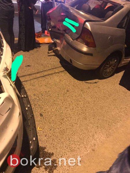 اصابات اثر حادث طرق قرب شرطة وادي عارة