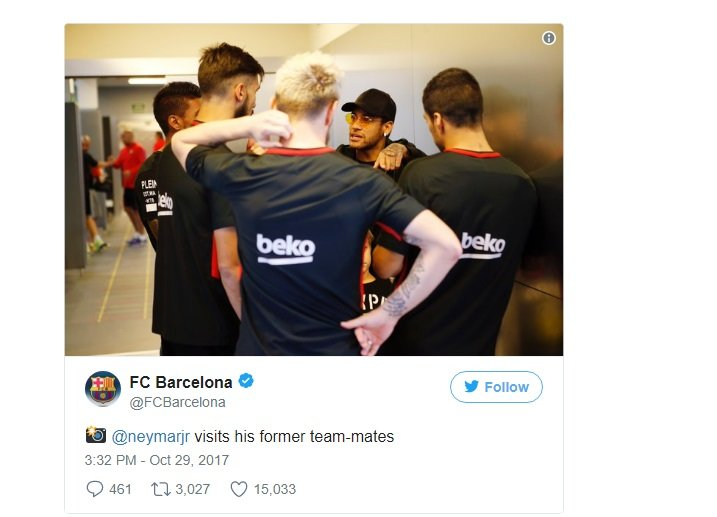 نيمار يعود إلى برشلونة !